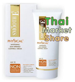 Smooth E Physical Sunscreen SPF50 15g. สีเบจเนื้อ
