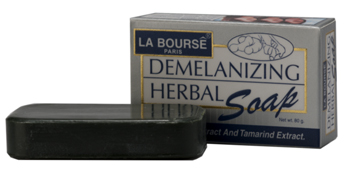 รูปภาพของ LA BOURSE Soap Enrich with Turmeric Tamarind Extract Demelanizing Herbal With A.H.A. 80g.สบู่แก้ฝ้า(ดั้งเดิม)