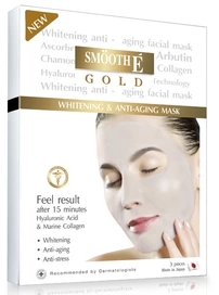 รูปภาพของ Smooth E Gold Whitening & Anti Aging Facial Mask 3แผ่น