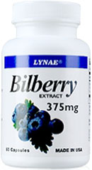 Lynae Bilberry Extract 375mg. 60cap