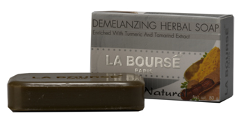 รูปภาพของ LA BOURSE Soap Enrich with Turmeric Tamarind Extract Demelanizing Herbal With A.H.A. 80g. สบู่แก้ฝ้า(สูตรใหม่)