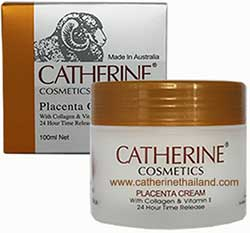 Catherine Cosmetics Placenta with Collagen and Vitamin E 100ml. สำหรับผิวแห้ง-ผิวผสม