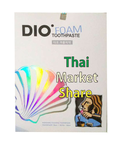 Dio ToothPaste Foam 50 ml+Refill ชนิดเติม 150ml. (Wellgate)