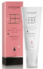 LIFEFORD BB AURA BLEMISH BLAM CREAM SPF50 PA++ PINK 40ml.