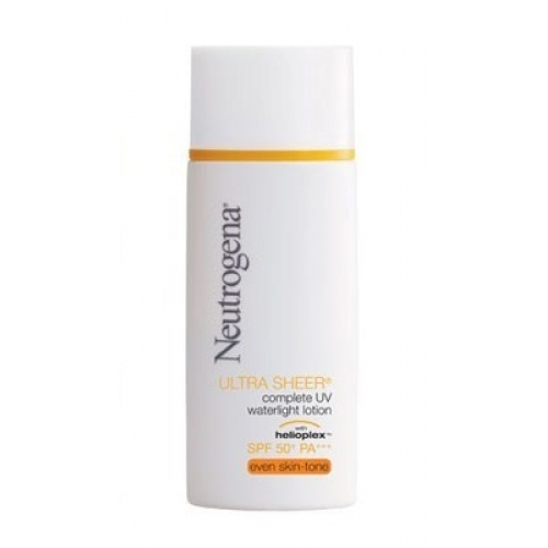 Neutrogena Ultra Sheer Complete UV Waterlight Lotion SPF50 PA++ 30ml.สีเบจ