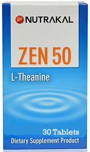 Nutrakal ZEN 50 L-theanine 50mg. 30tab