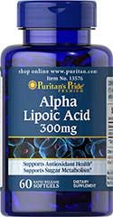 รูปภาพของ Puritan s Pride Alpha Lipoic Acid 300mg. 60 Softgels