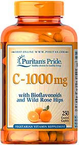 รูปภาพของ Puritan s Pride Vitamin C-1000 mg with Bioflavonoids & Rose Hips 250tab