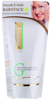 Smooth E Gold Anti-Aging Whitening Facial Cleansing Foam 4Oz.(120g.)