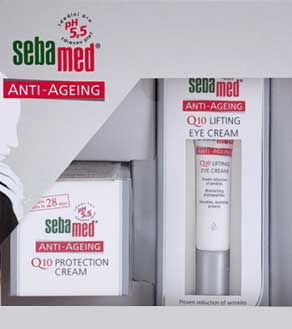 Sebamed Q10 Anti- Ageing Q10 Protection Cream 50ml + Lifting Eye Cream 15ml