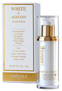 Smooth-E Gold White & Ageless Babyface Cream 30g.