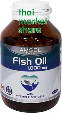 Amsel Fish Oil 1000mg. With Vitamin E 60softgel น้ำมันปลา