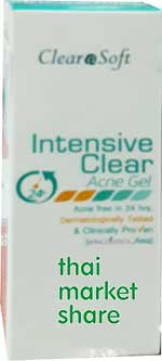 ClearaSoft Intensive Clear Acne Gel free 24h. 15g.