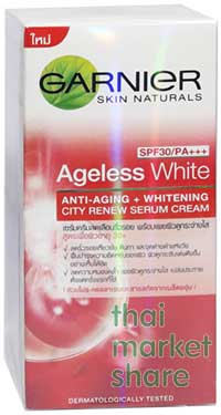 รูปภาพของ GARNIER Ageless White City Renew Serum Cream SPF30/PA+++50ml.