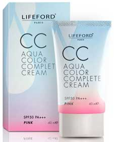LIFEFORD CC AQUA COLOR COMPLETE CREAM SPF 50 PA++ PINK 40ML.