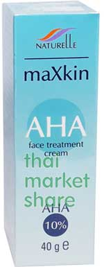 maXkin AHA Face Treatment Cream AHA 10% 40g.