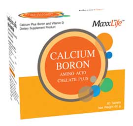 รูปภาพของ Maxxlife Calcium Boron Amino Acid Chelate Plus 60เม็ด