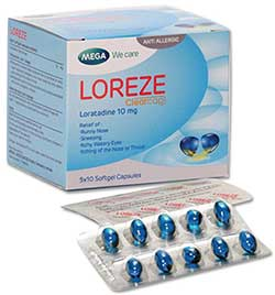 Mega We care LOREZE (5x10แผง)
