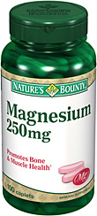 Nature s Bounty Magnesium 250mg. 100เม็ด