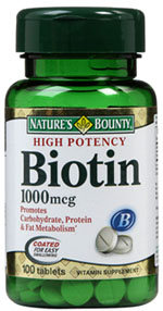 รูปภาพของ Nature s Bounty Biotin 1000mcg. 100tab