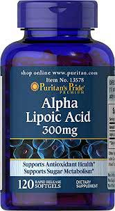 รูปภาพของ Puritan s Pride Alpha Lipoic Acid 300mg. 120 Softgels