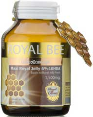 รูปภาพของ Royal Bee 6% 10HDA Equiv to Royal Jelly Fresh1,500mg.30cap