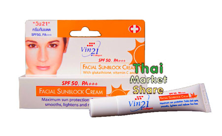 รูปภาพของ Vin21 Facial SunBlock Cream SPF50 PA+++
