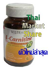 Vistra L-carnitine 500 mg. Plus 3L 30เม็ด