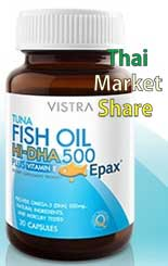 รูปภาพของ Vistra Tuna Fish Oil Hi-DHA 500 mg. Plus Vitamin E 30cap