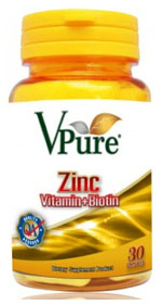 V Pure Zinc Plus Vitamin 30cap